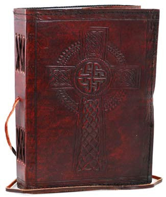 Celtic Cross Leather Blank Book