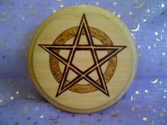 Textured Pentagram Altar Tile Paten