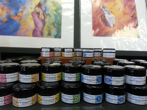 Full Set of Organic Chakra Balms to Open, Harmonize, and Balance your Chakra Centers