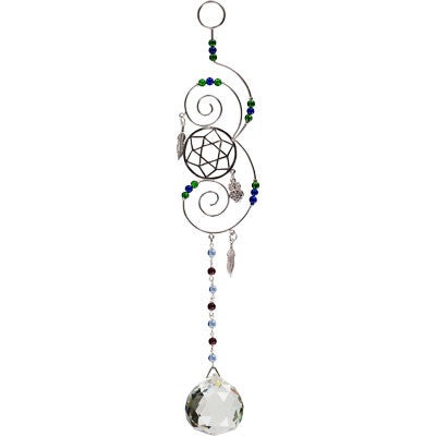 Crystal Spiral Mandala Home Protection Talisman & Dreamcatcher