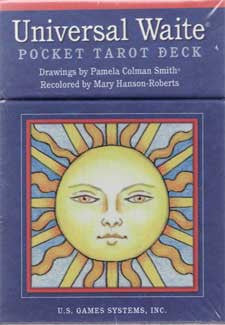 Universal Waite Pocket Tarot by Smith and Hanson-Roberts
