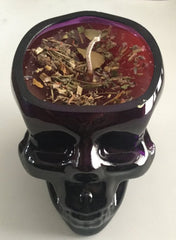 Divination Skull Candle Samhain Day of Dead Wicca Necromancy