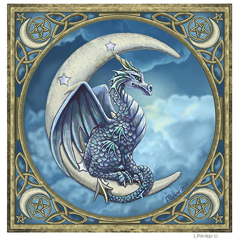 Dragon Moon Yule Cards by Lisa Parker
