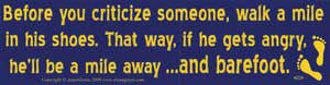 Before You Criticize Someone... bumper sticker