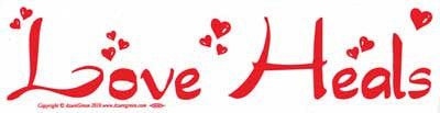 Love Heals bumper sticker