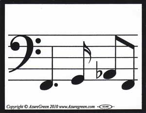 Music Line bumper sticker