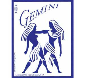Gemini bumper sticker
