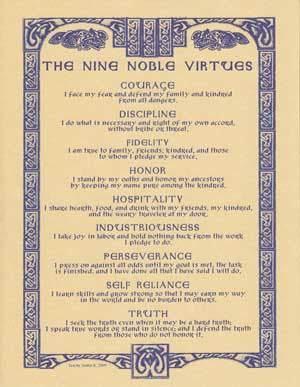 Nine Noble Virtues poster