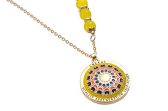 Mandala Pendant and Necklace. Meaning: Energy, Vitality, Regeneration, & Self power