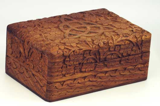 Triquetra Wooden Carved Box 4 X 6 Eartisans Wiccan Pagan Products