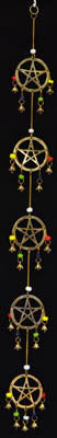 Long Pentagram wind chime 32""