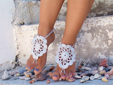 Delicate Flower Barefoot Sandals