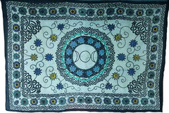 "Flower Triple Moon Tapestry 72"" x 108"""
