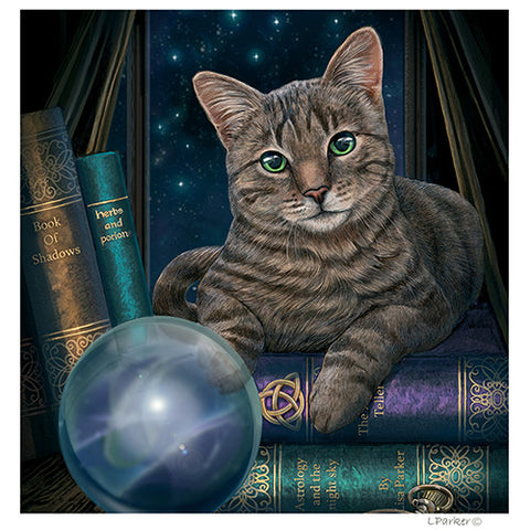 Fortune Teller Cat- Yule Cards By Lisa Parker