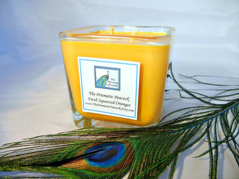 Fresh Squeezed Oranges Scented Soy Candle 12oz Cube