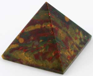 "Bloodstone Pyramid  1 1/4""- 1 1/2"" (30 to 40mm)"