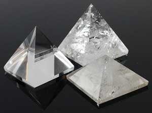 Small Quartz Crystal Pyramid-Choose A Size