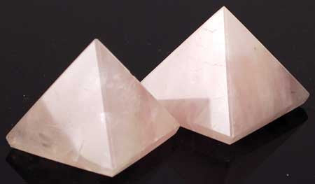 Medium Rose Quartz Pyramid  30 to 40mm