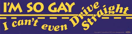 I`m So Gay I Can`t Even Drive Straight bumper sticker