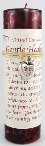 Gentle Healing pillar candle with Ritual Necklace