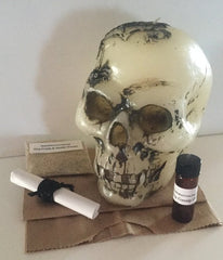 Gossip Slander Skull Candle Spell Kit to Stop Malicious Lies