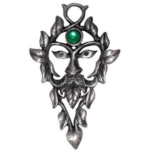Greenman Necklace-For Aid in Magick