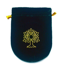 Green Velvet Tree of Life Bag-8x6