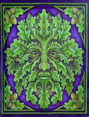 Greenman Spirit Yule Cards By Lisa Parker