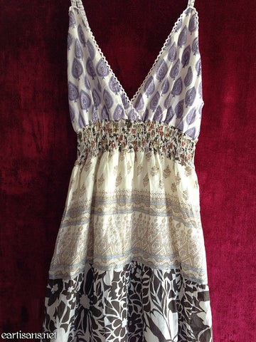 Gypsy Dreams-Cotton Print Patchwork Dress