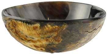 Polished Ritual Horn Offering Bowl 3.75 inch