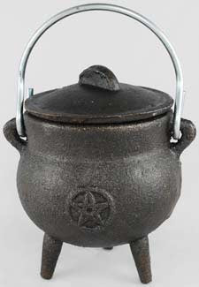 Small Pentagram Cast Iron Cauldron