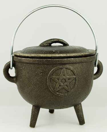 Medium Pentagram Cast Iron Cauldron