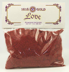 Love Powder Incense 1618 gold