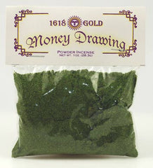 Money Drawing Powder Incense 1618 gold