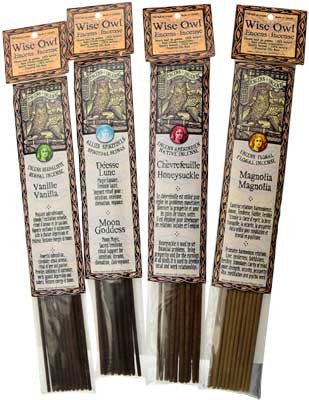 Benzoin Wise Owl Stick Incense-20pk