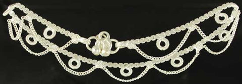 Anklet with Bells-Silvertone
