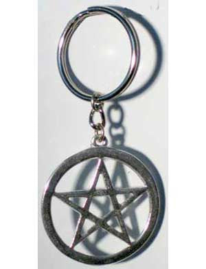 Pentagram Key Ring