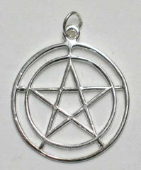Sterling 2-Circle Pentagram