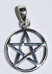 Small Sterling Silver Pentagram Pendant/Charm