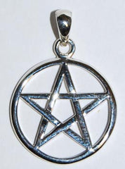 Interwoven Sterling Silver Pentagram