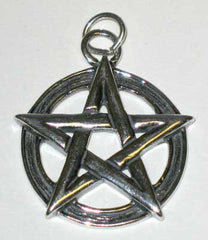 Large Sterling Silver Pentagram Pendant