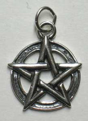 Small Sterling Silver Pentagram Pendant
