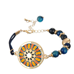 Mystical Mandala Bracelet. Design: SELF CONFIDENCE, Courage, Determination and Intuition