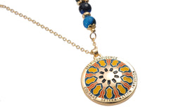 Mandala Pendant and Necklace. Meaning: Self Confidence, Courage, Determination and Intuition
