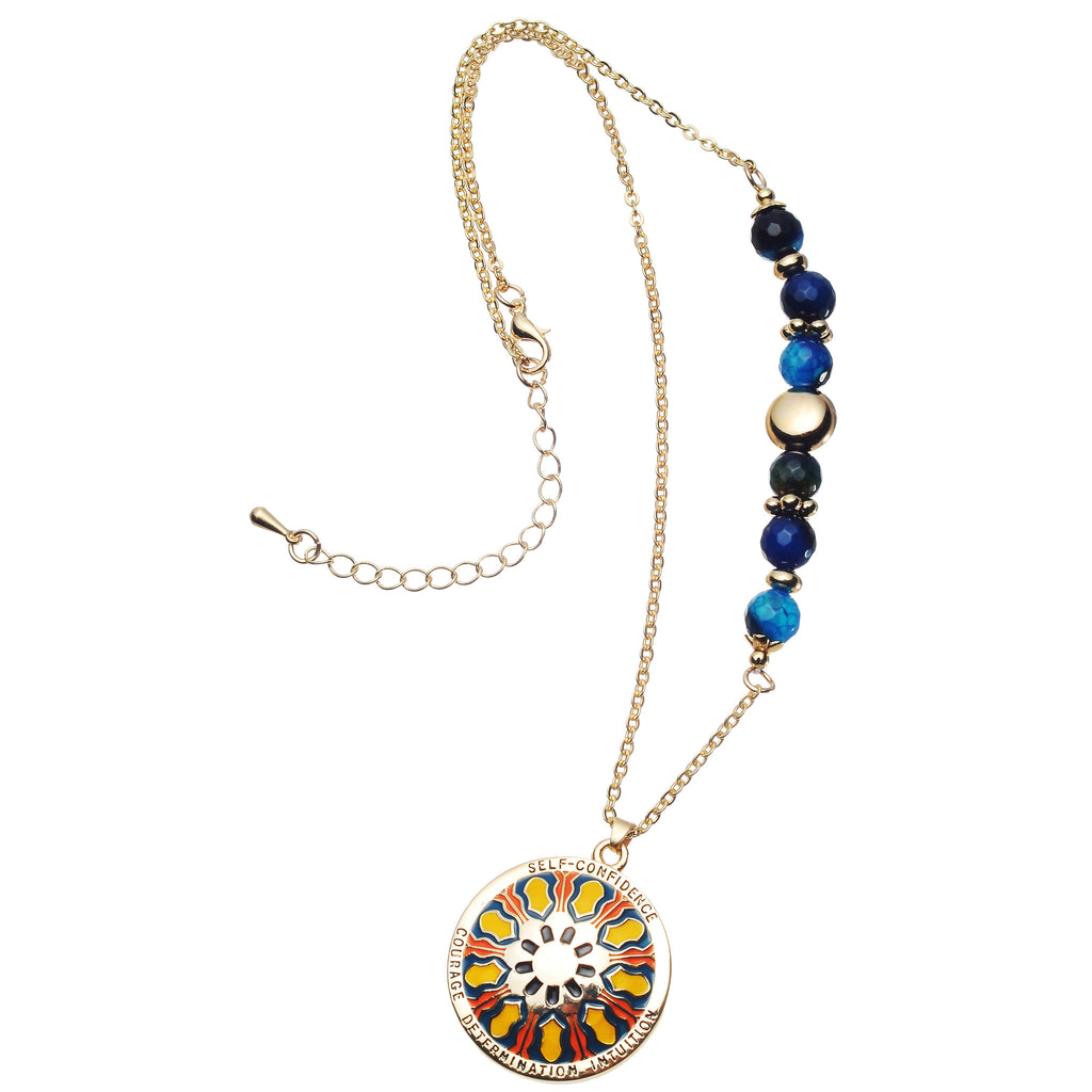 Mandala pendant and necklace meaning self confidence courage deter mandala pendant and necklace meaning self confidence courage determination and intuition aloadofball Choice Image