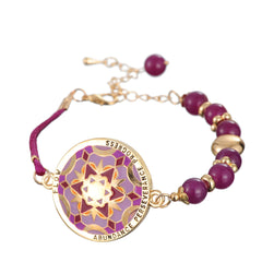 Eclectic Mandala Bracelet Meaning: FLOW, Abundance, Perseverance and Progress