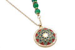 Celtic Pendant and Necklace. Mandala Design. Meaning: Focusing, Center, Concentration and Discipline