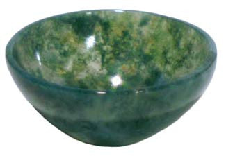 Small Moss Agate Devotional Bowl