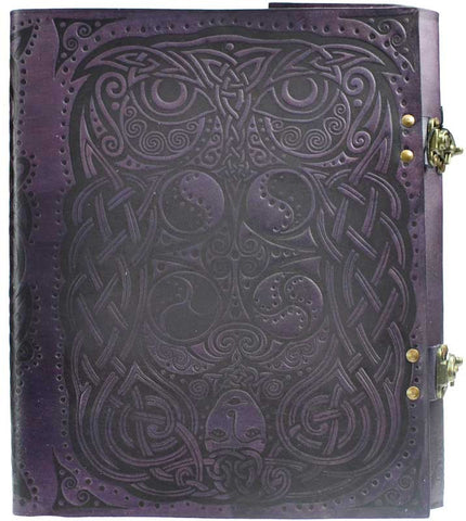 Owl and Goddess Leather Book of Shadows