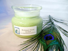 Patchouli Scented Soy Candle 12oz Apothecary Jar Green